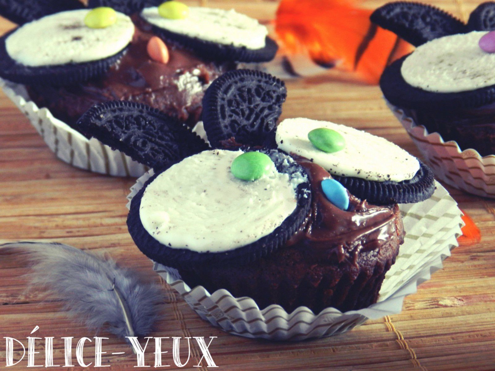 Cupcakes Chouettes/Hiboux {Halloween}