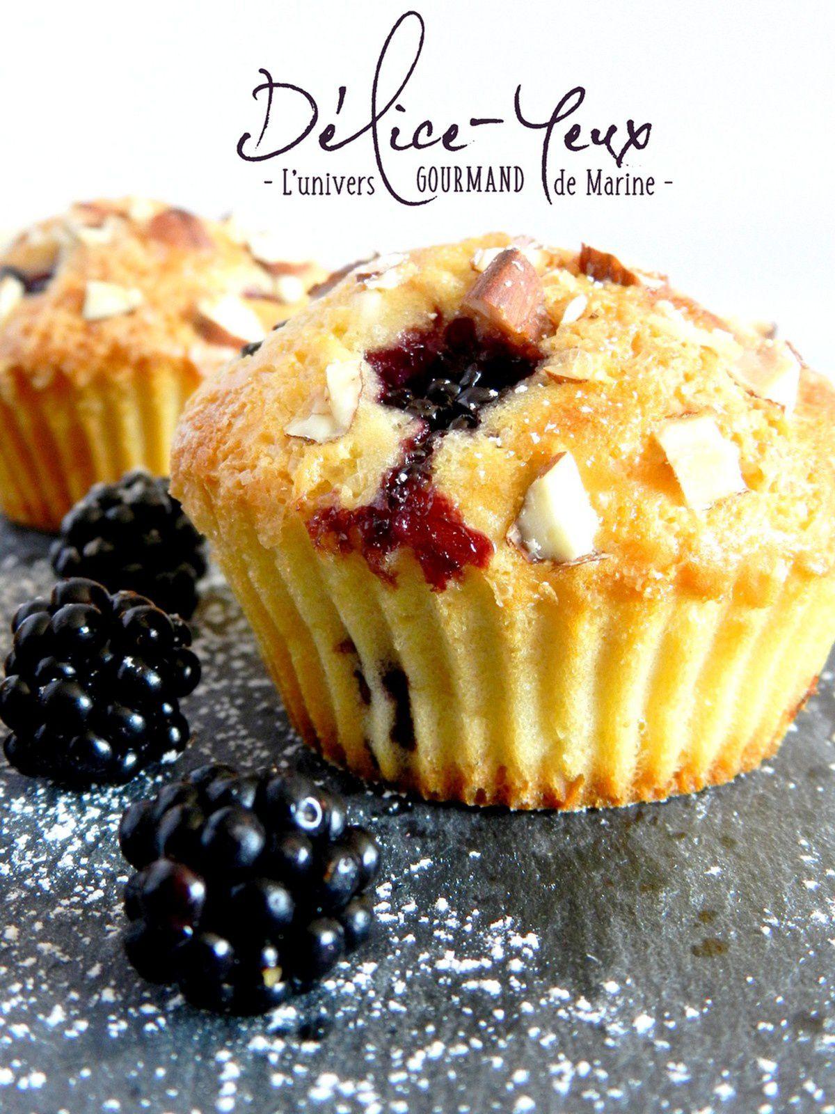 Muffins Mûres sauvages & Éclats d'amandes