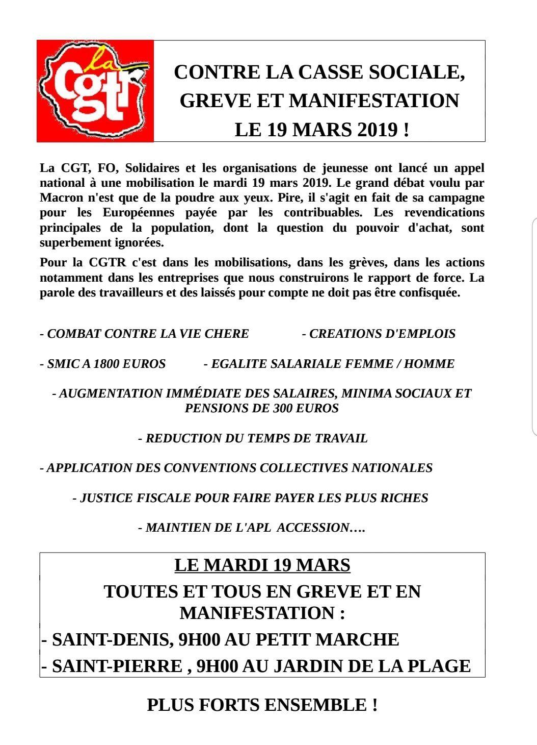 Mobilisation du 19 mars 2019