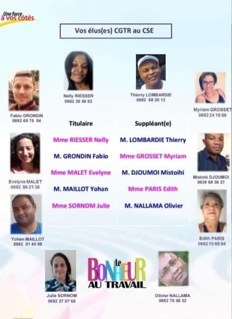 La CGTR 1ère Organisation Syndicale à Groupama Océan Indien