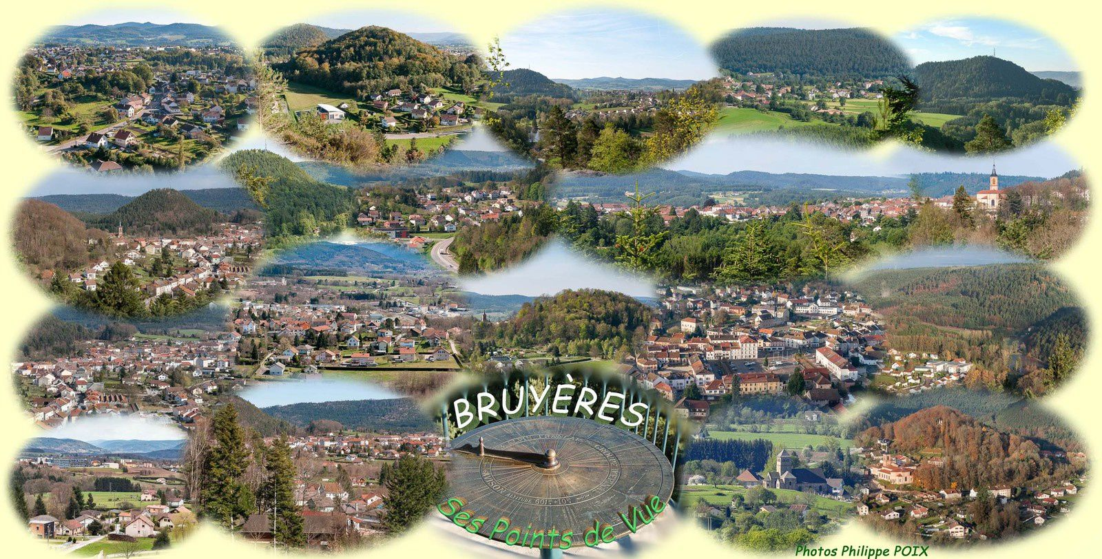 Photomontage des points de vue bruyèrois