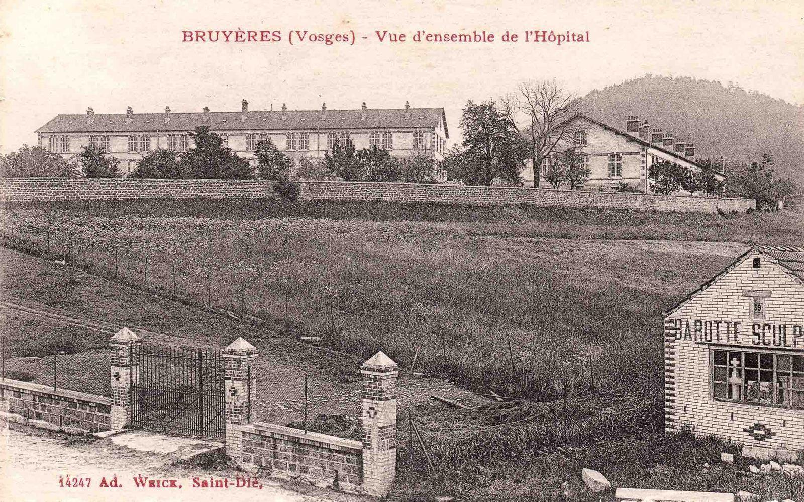 A gauche, le Pavillon annexe, à droite, le Préventorium