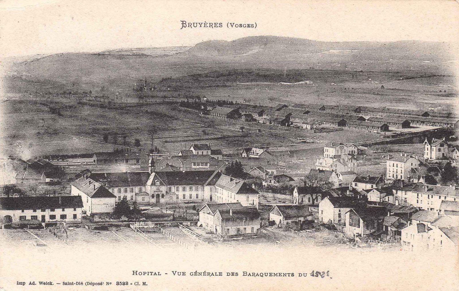 BRUYÈRES-VOSGES : l'évolution de l'Hôpital et de la Maison de retraite au fil du temps
