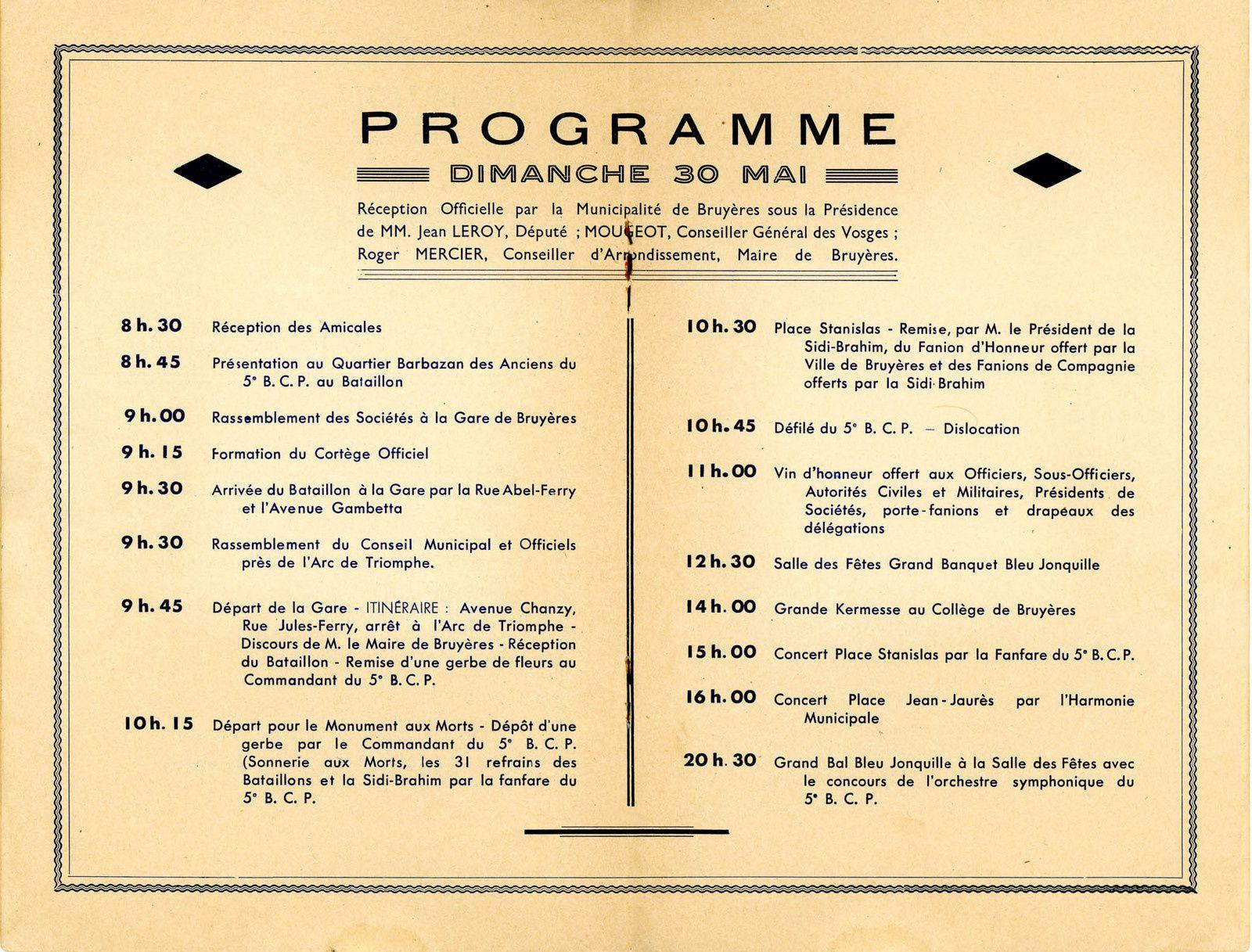 BRUYÈRES-VOSGES : le 5è Bataillon de Chasseurs à Pied