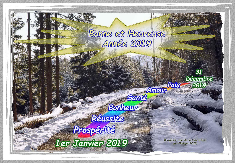 Bonne et Heureuse Année 2019 à tous les visiteurs de BRUYÈRES-VOSGES