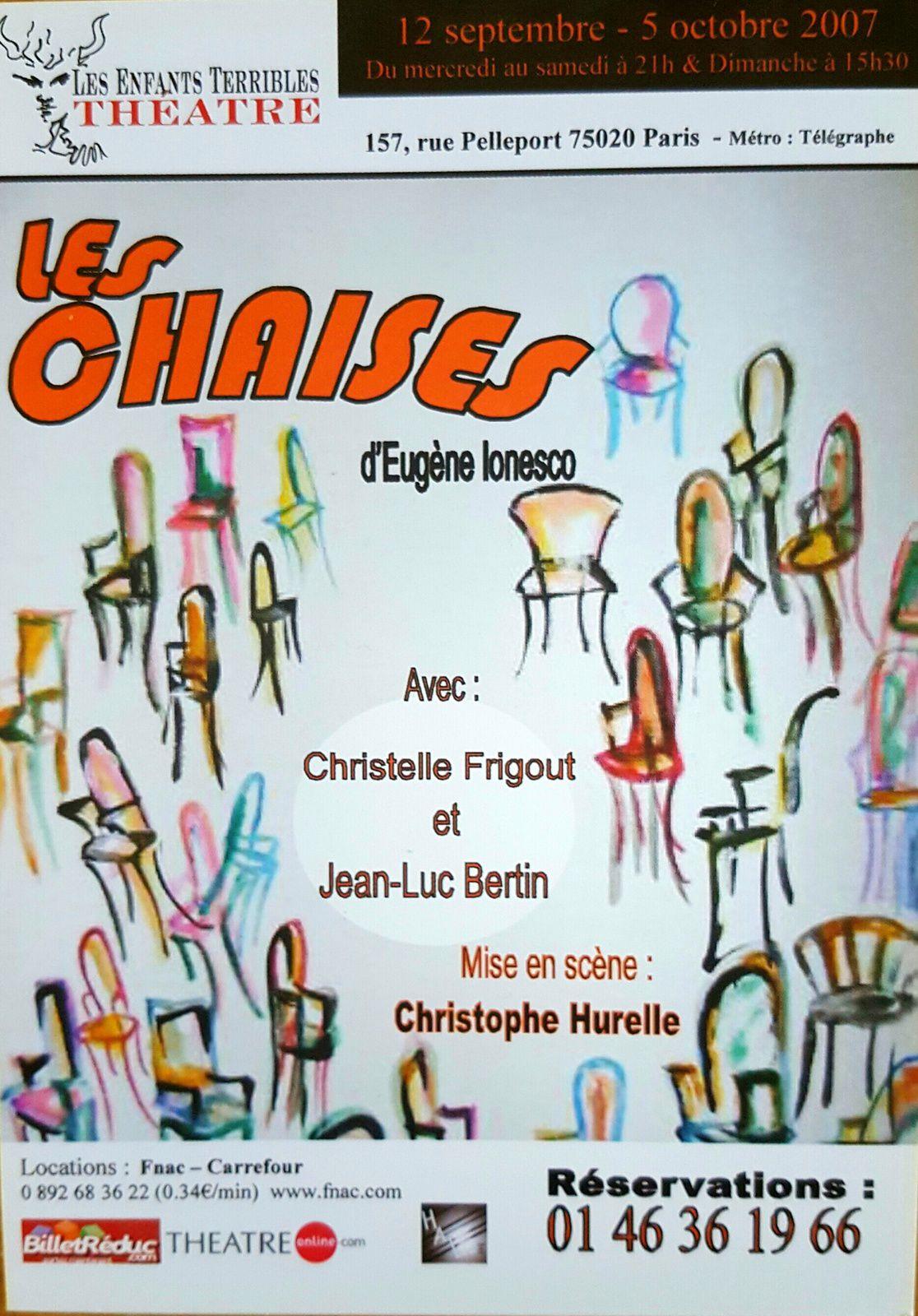 Théâtre les Enfants Terribles - septembre - octobre 2007
