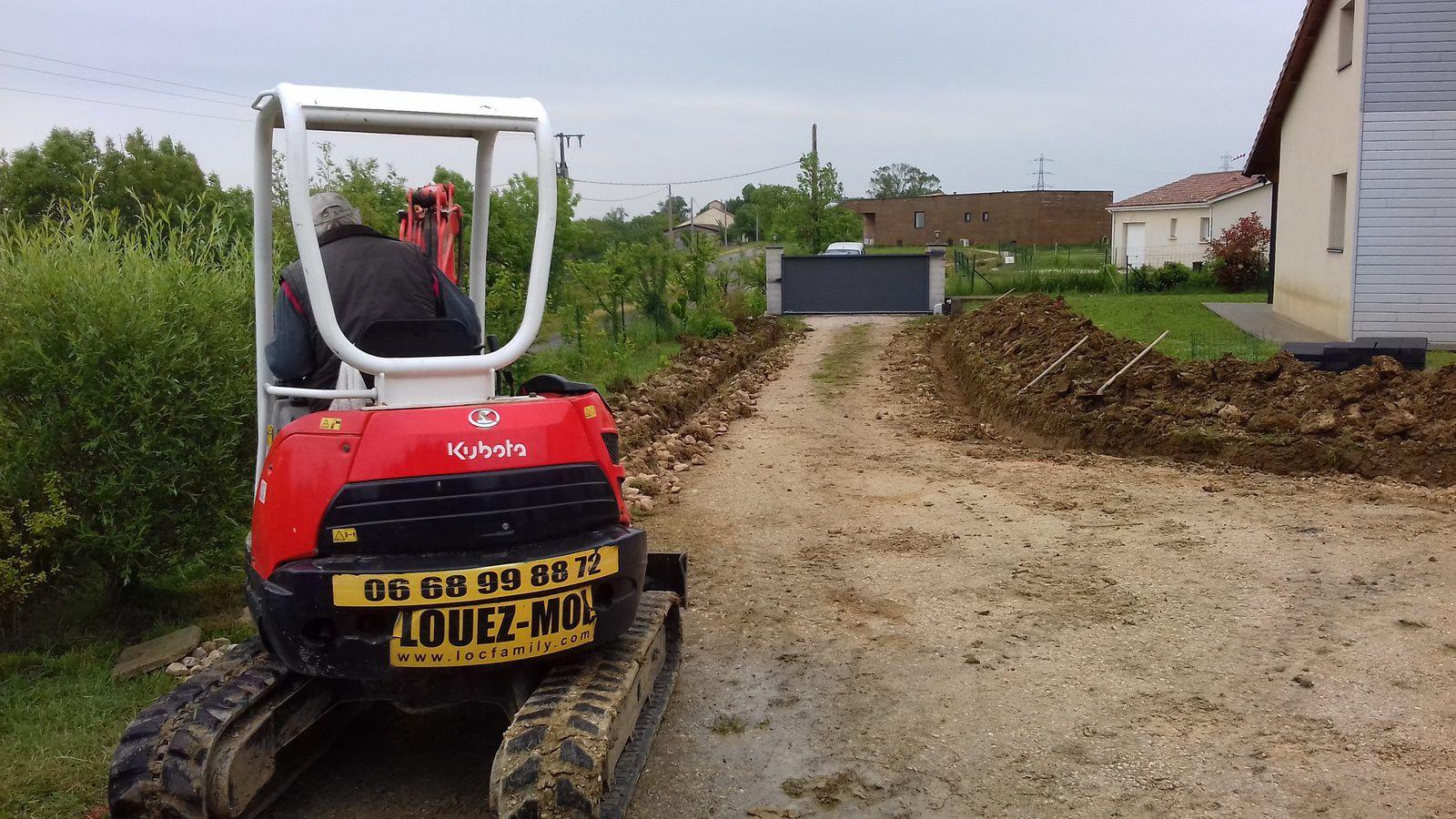 Allée De Garage En Béton Drainant réalisation d'un parking de garage et d'une allée en béton