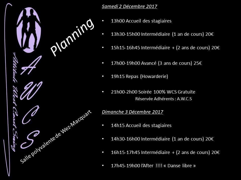 Stage West Coast Olivier et Virginie Massart - 2 et 3 décembre 2017