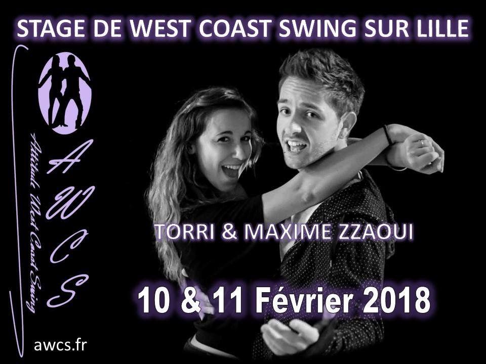 Stage de West Coast swing Maxime et Torri Zzaoui 10 & 11 février 2018