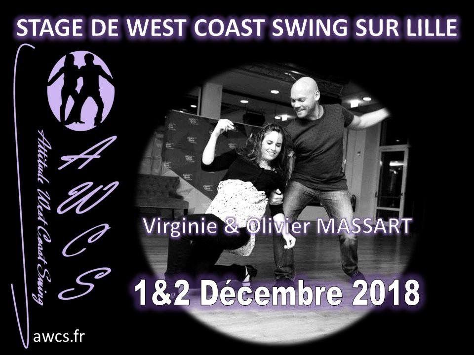 Stage West Coast Swing - Olivier et Virginie Massart - 1& 2 décembre 2018