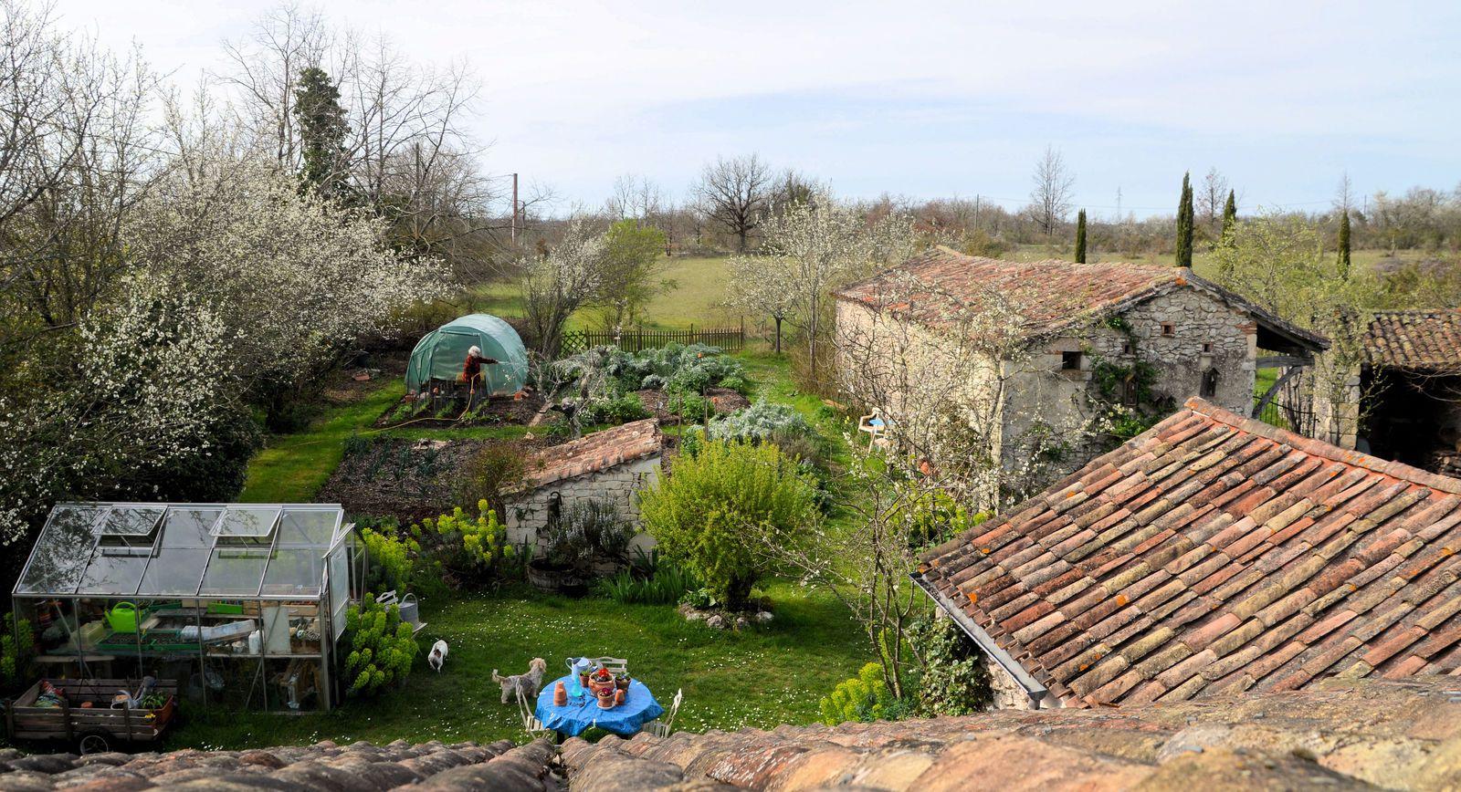 Domaine Les Cyprès - Atelier - jardin - vignes