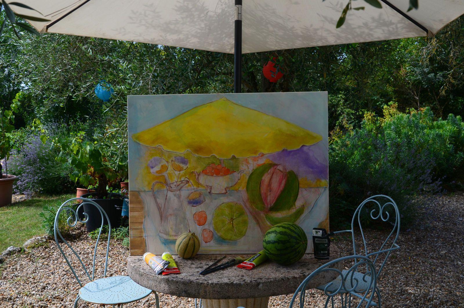 Atelier & jardin - nouvelle toile
