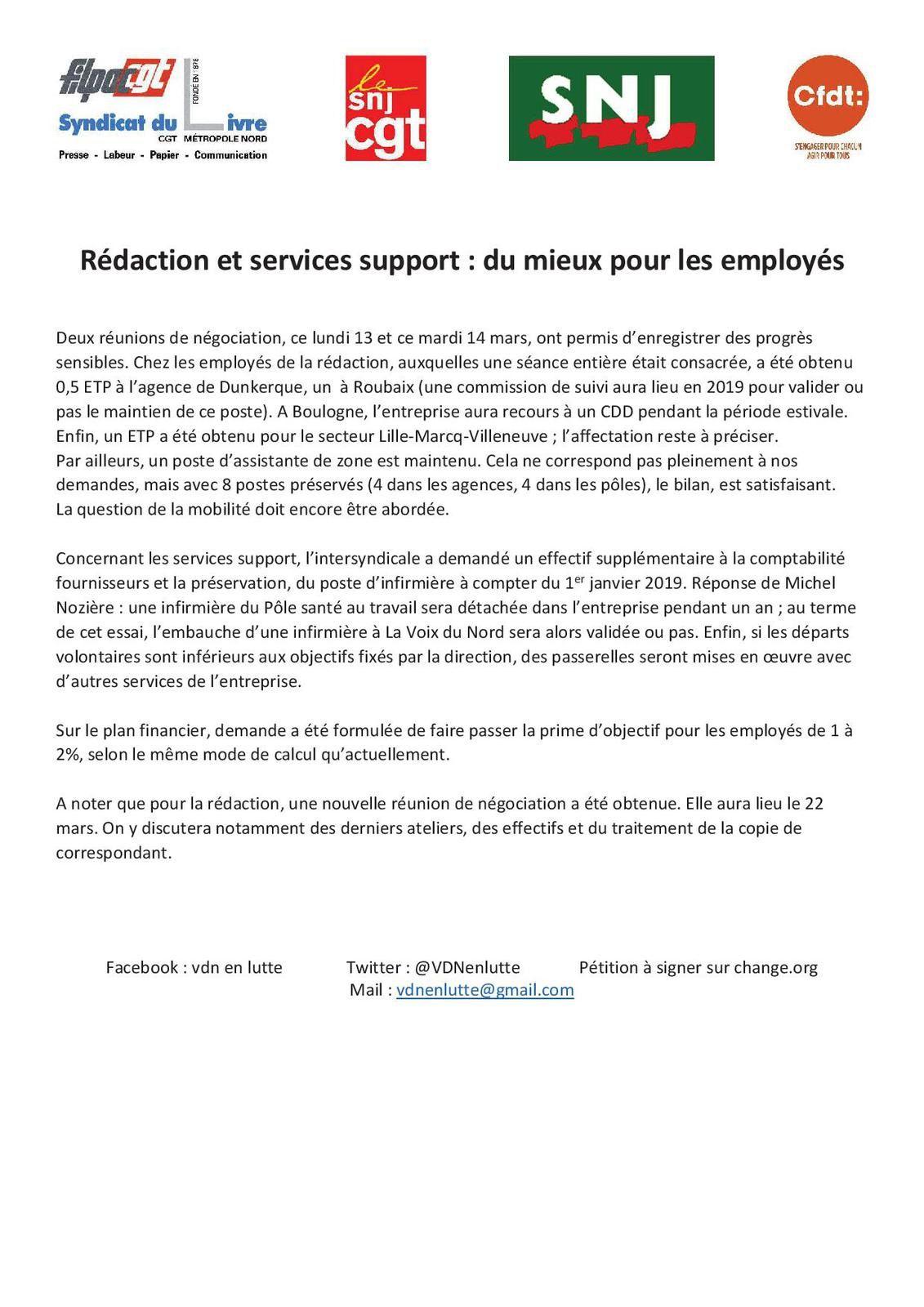 Rédaction et services support : du mieux pour les employés