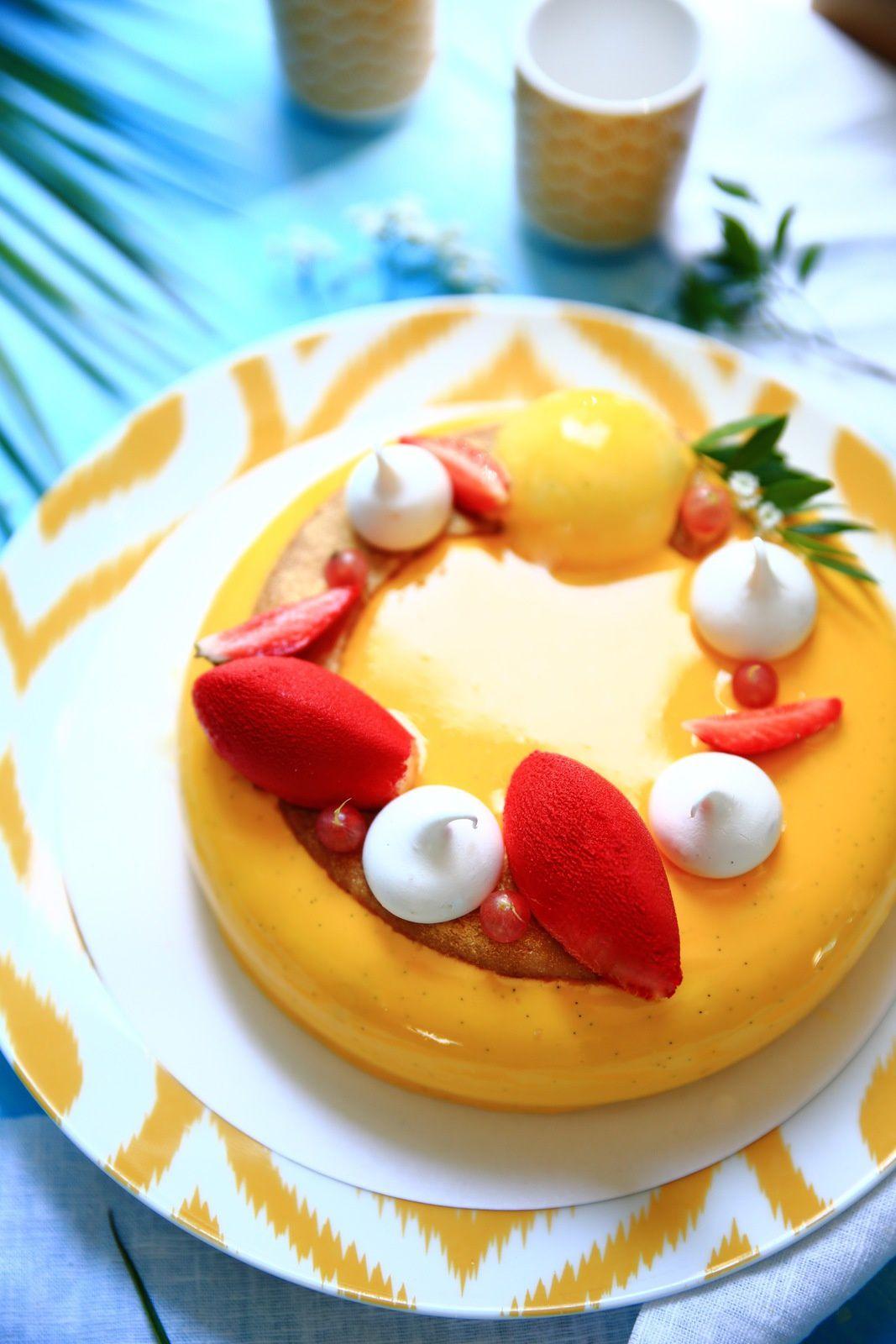 Cheesecake framboises et fraises
