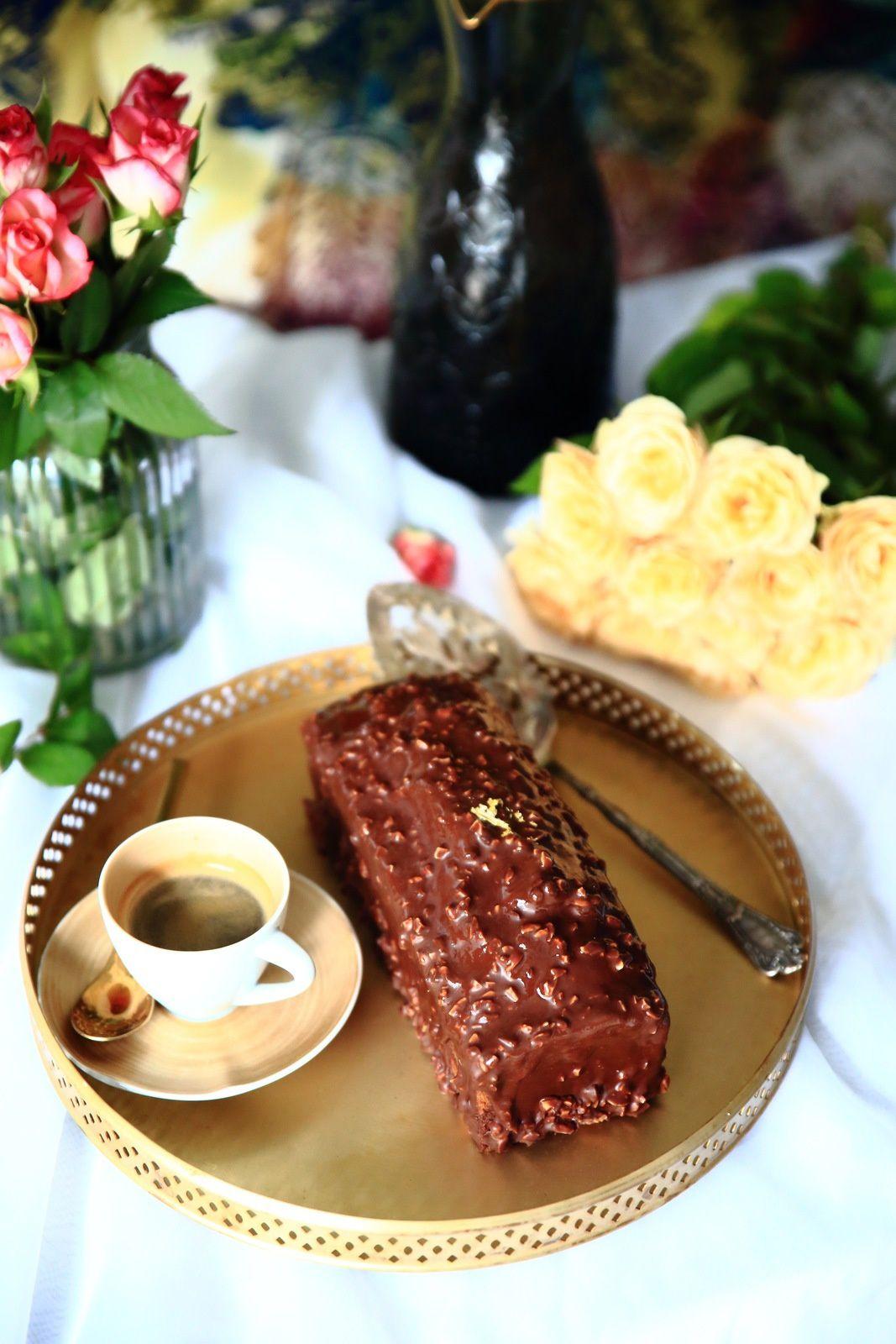 Cake marbré et son glaçage rocher (recette de François Perret)