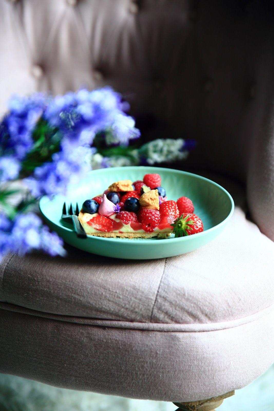 Tarte panier de fruits rouges