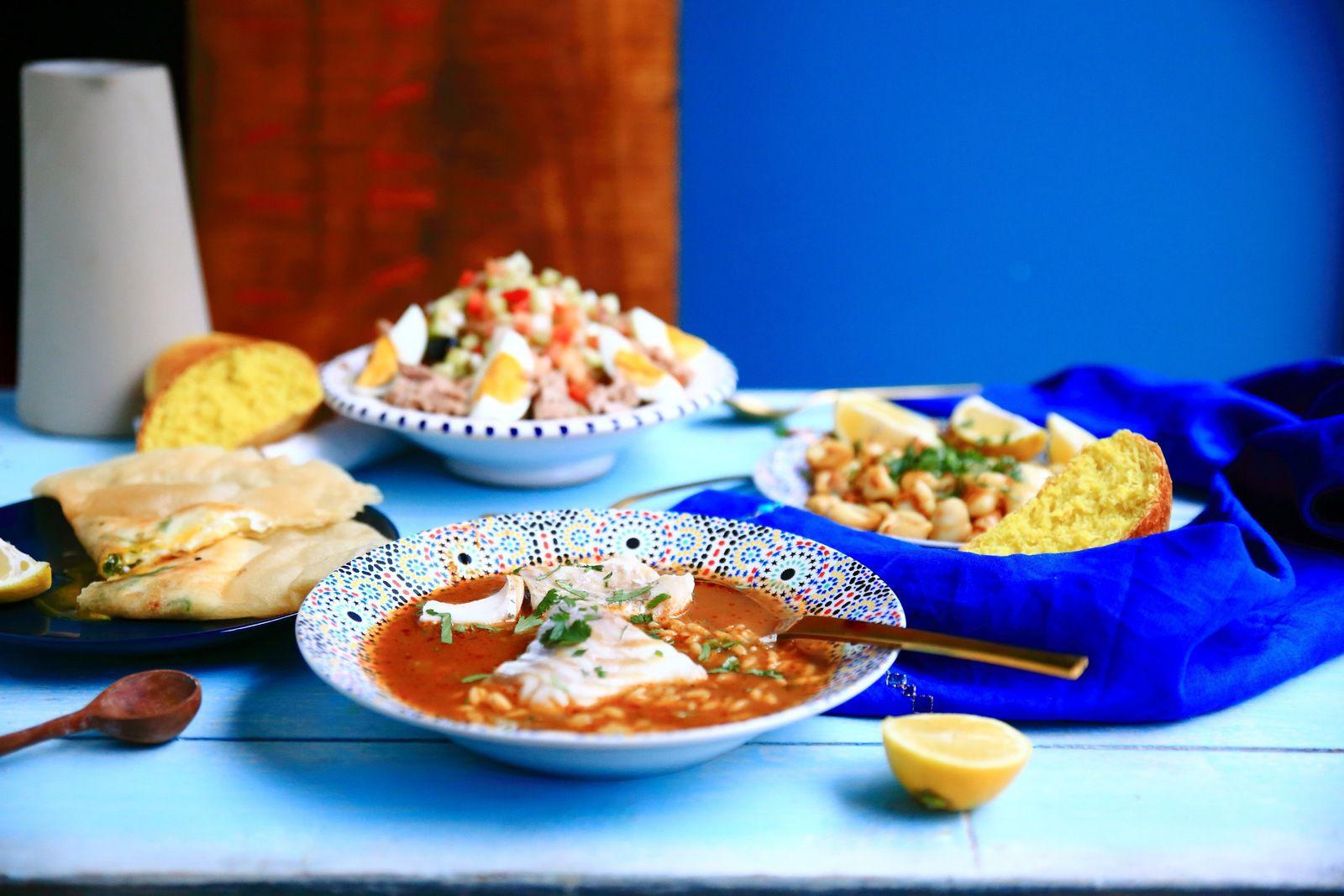 Une table tunisienne, idée menu Jour 14 du ramadan