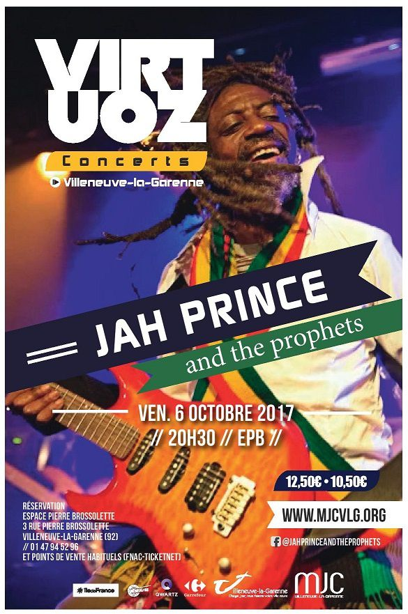 Jah Prince & the prophets @ Virtuoz club, le 06/10/17