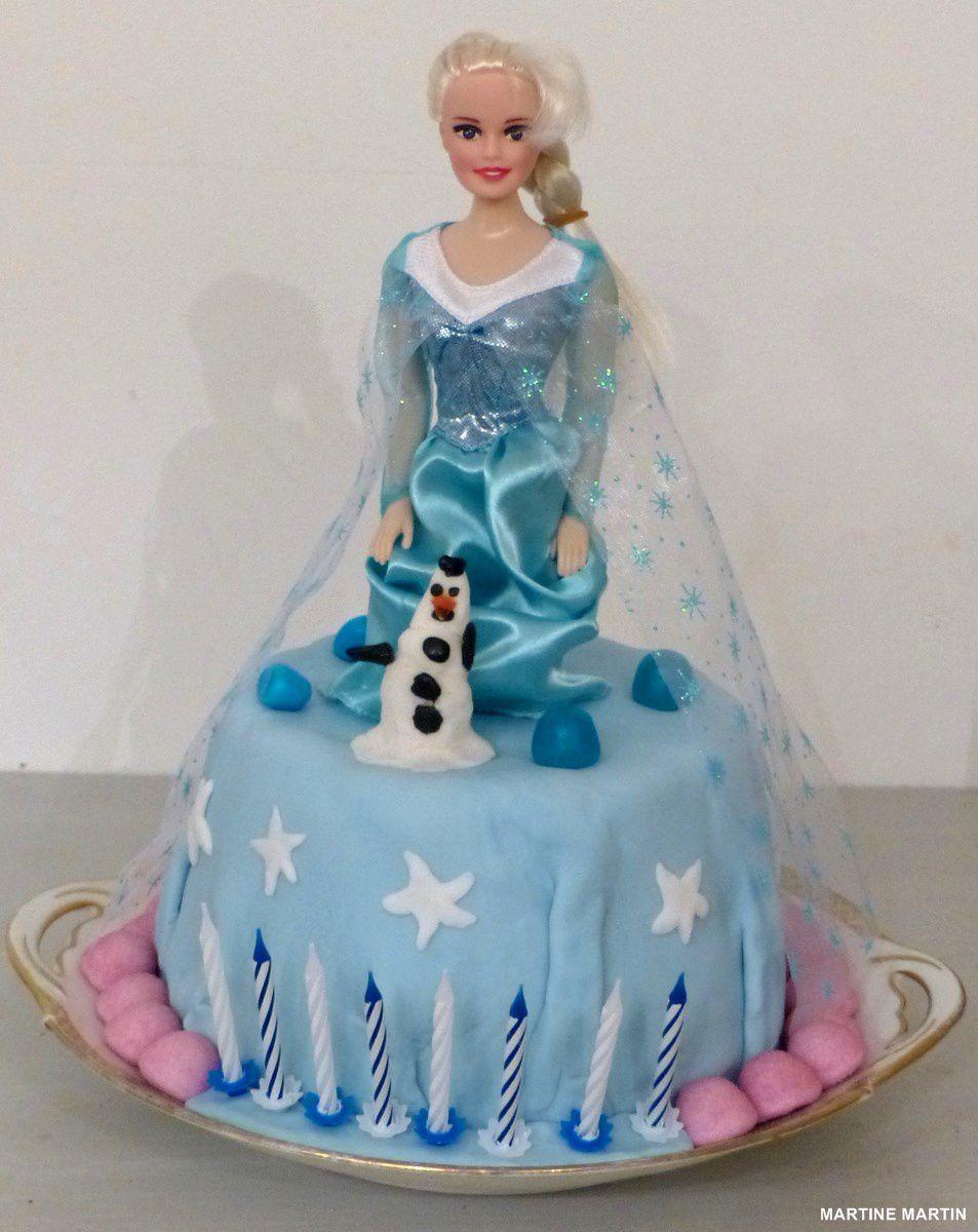 Gâteau reine des neiges ou de Noël à base de Charlotte