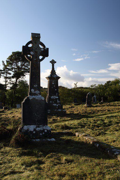 Croix celtiques (le cercle représentant le mouvement circulaire et cyclique de la vie) à Castlebar