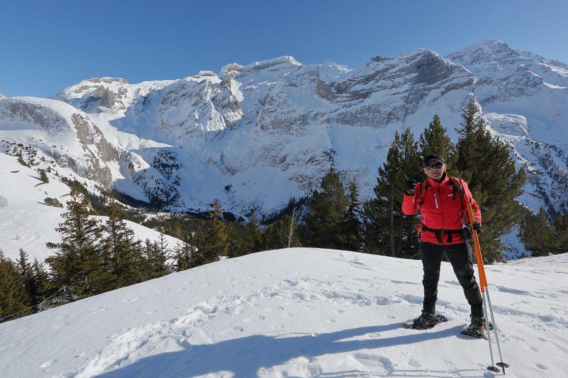 Randonnées sur les hauteurs de Pralognan à 2000m d'altitude (avec les guides de l'ESF , Françoise et Bernard VION )