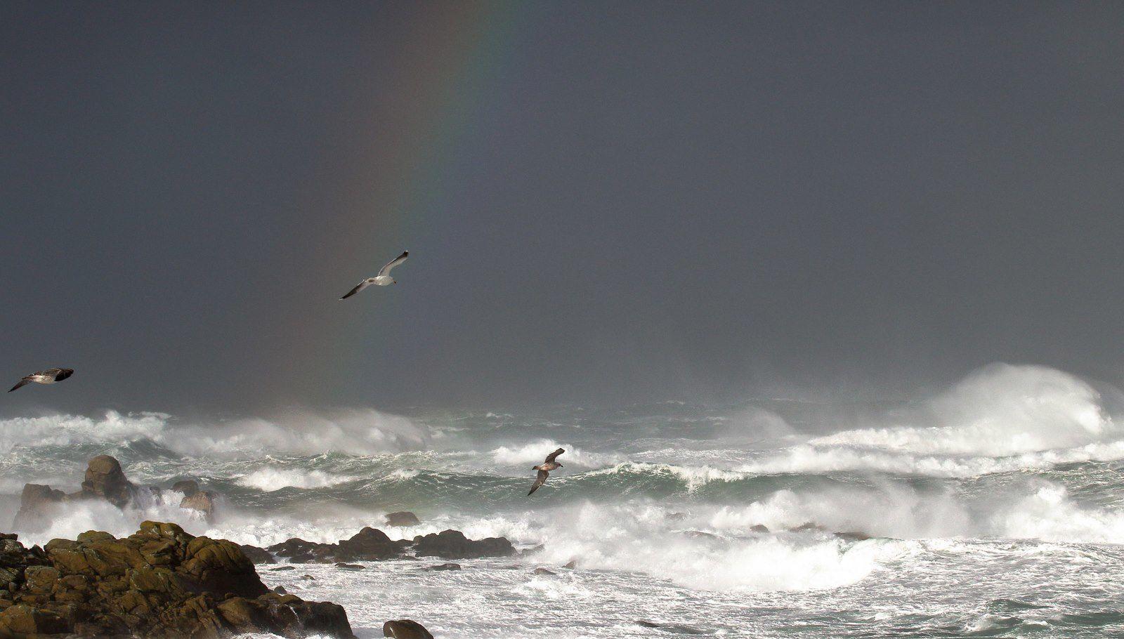 Entre grains et bourrasques en mer d'Iroise...