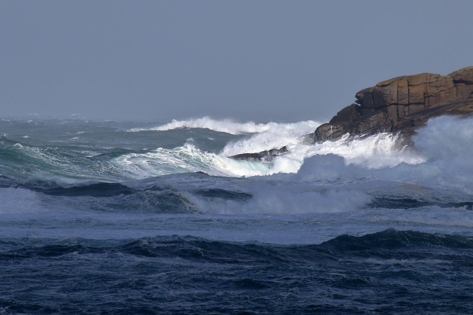 coup de vent sur la mer d'Iroise