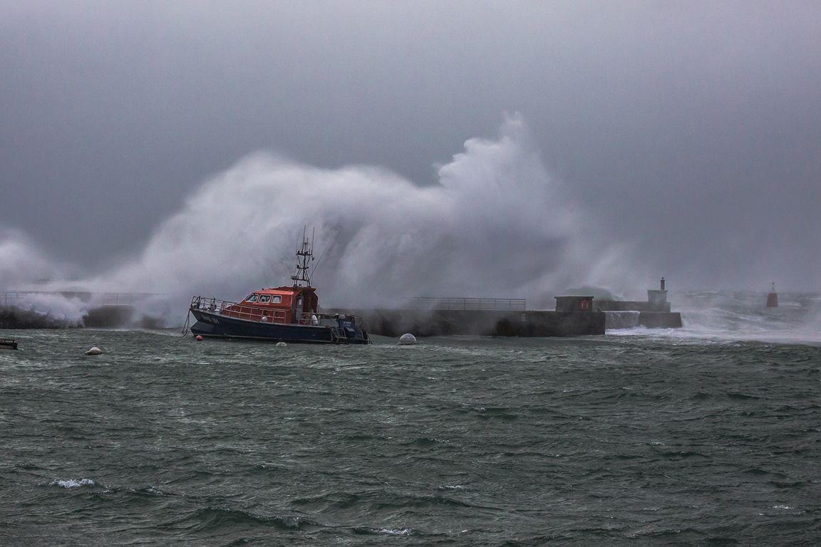 Tempête CIARA : Port du CONQUET  (Nord Finistère)