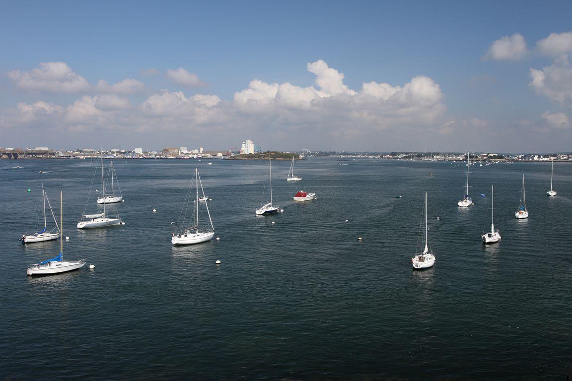 La petite mer de Gâvres et la citadelle de Port Louis (Lorient) . sept.2015