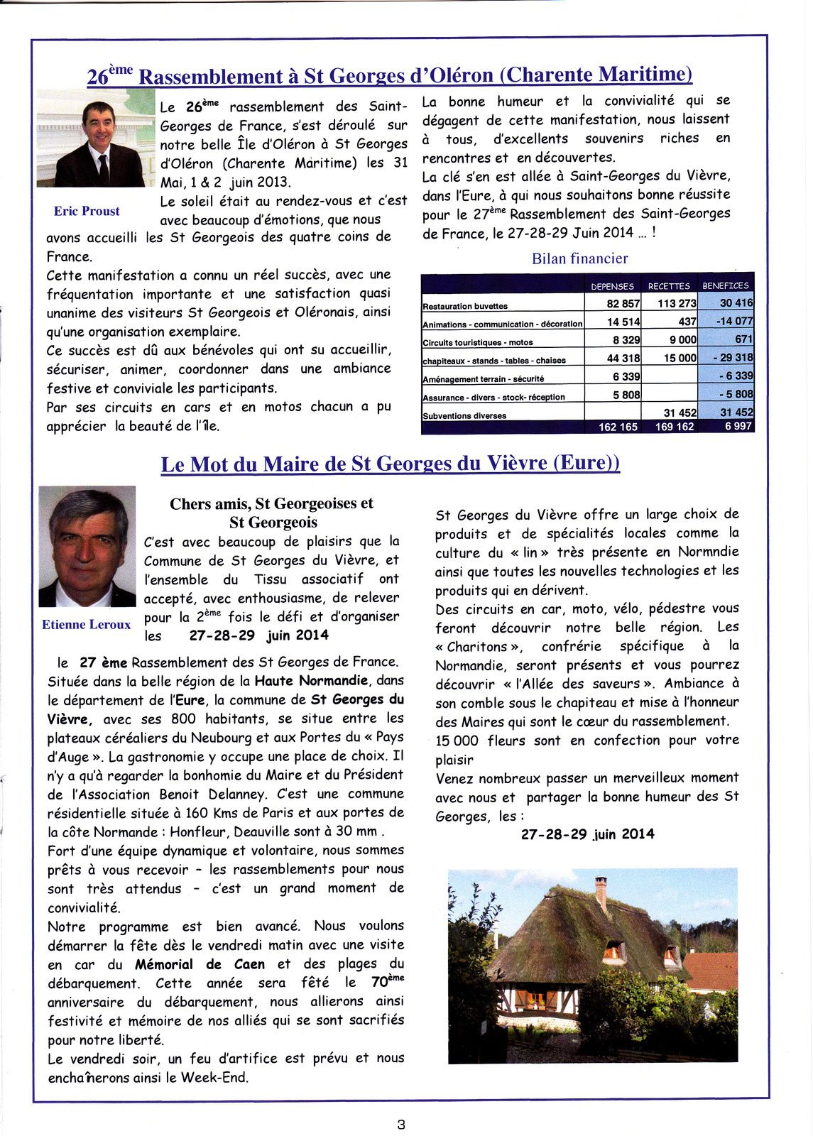 ST GEORGES DE FRANCE Flash Info n°26