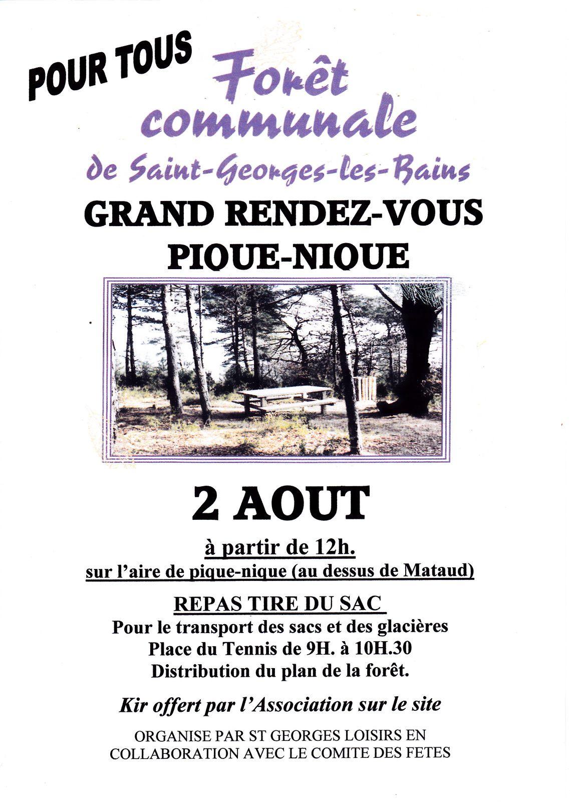 ST GEORGES LES BAINS - GRAND PIQUE-NIQUE