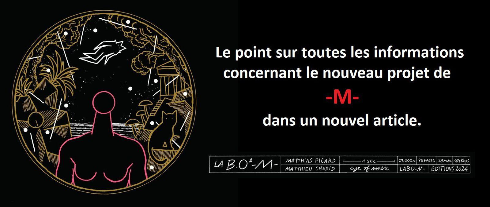 MATTHIEU CHEDID - A propos de La B.O ² -M- (son nouvel album)