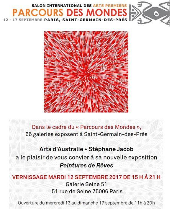 Peinture aborigène, Paris, St-Germain-des-Prés