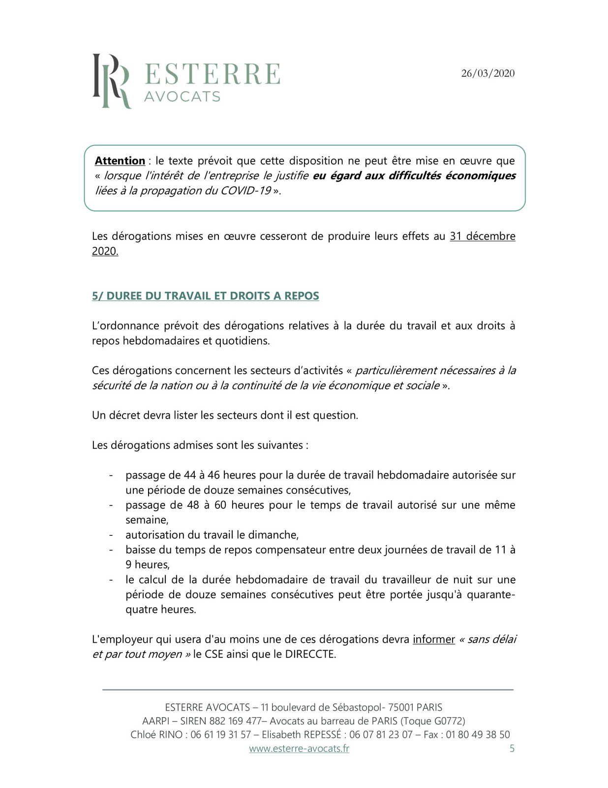COVID 19 : La prise des congés payés pendant la période d'urgence sanitaire