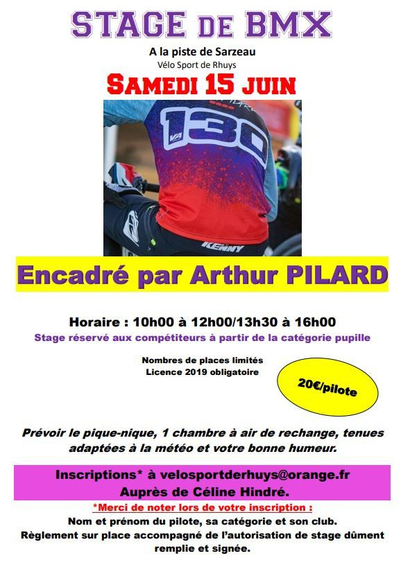 STAGE COMPETITION A SARZEAU