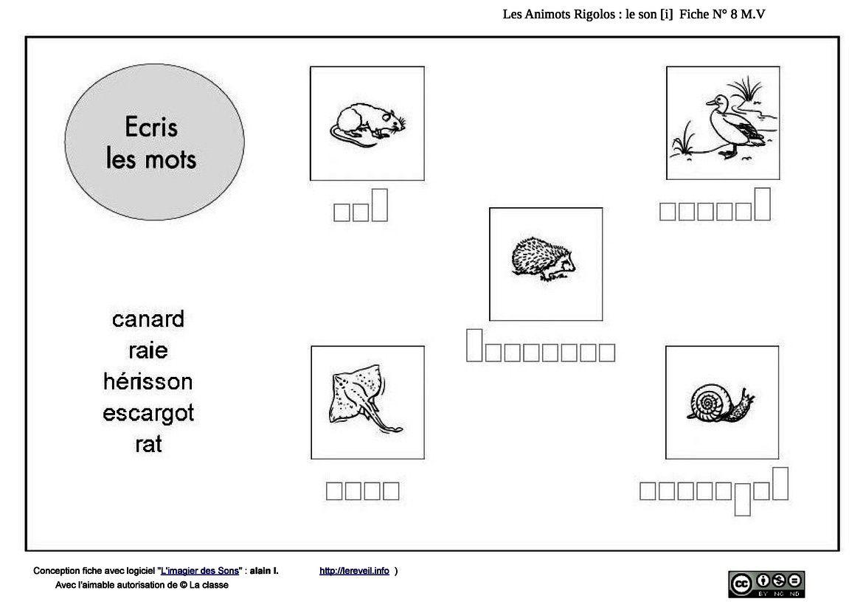 les animots rigolos : acquisition phonème/graphème [R]