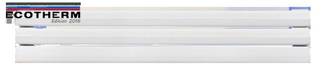 Radiateur électrique à inertie plinthe hauteur 24 cm