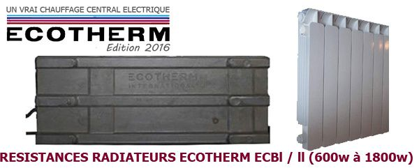 résistance radiateur ecotherm