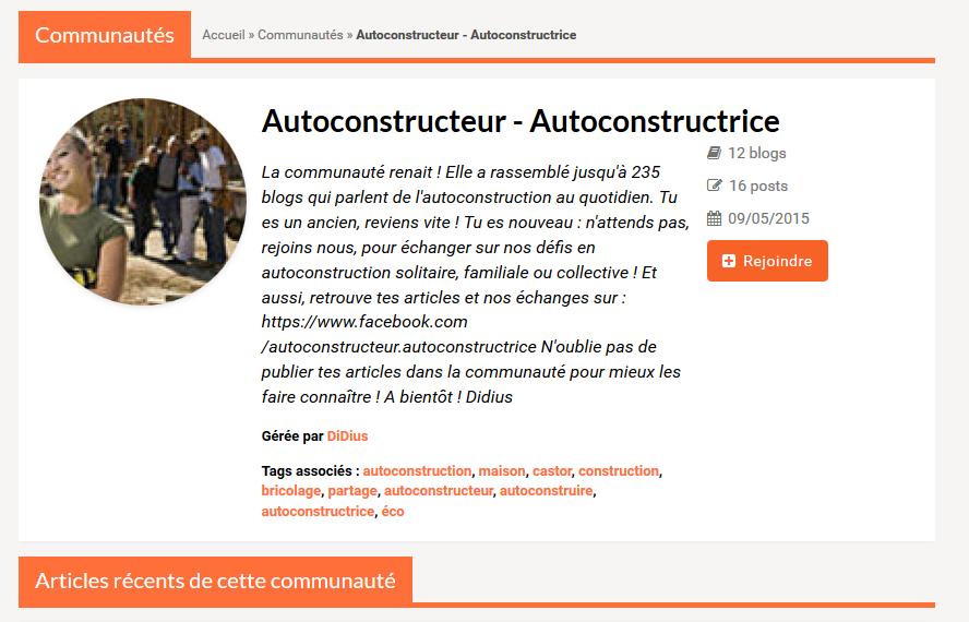Autoconstructeurs, autoconstructrice : faites vous connaître !