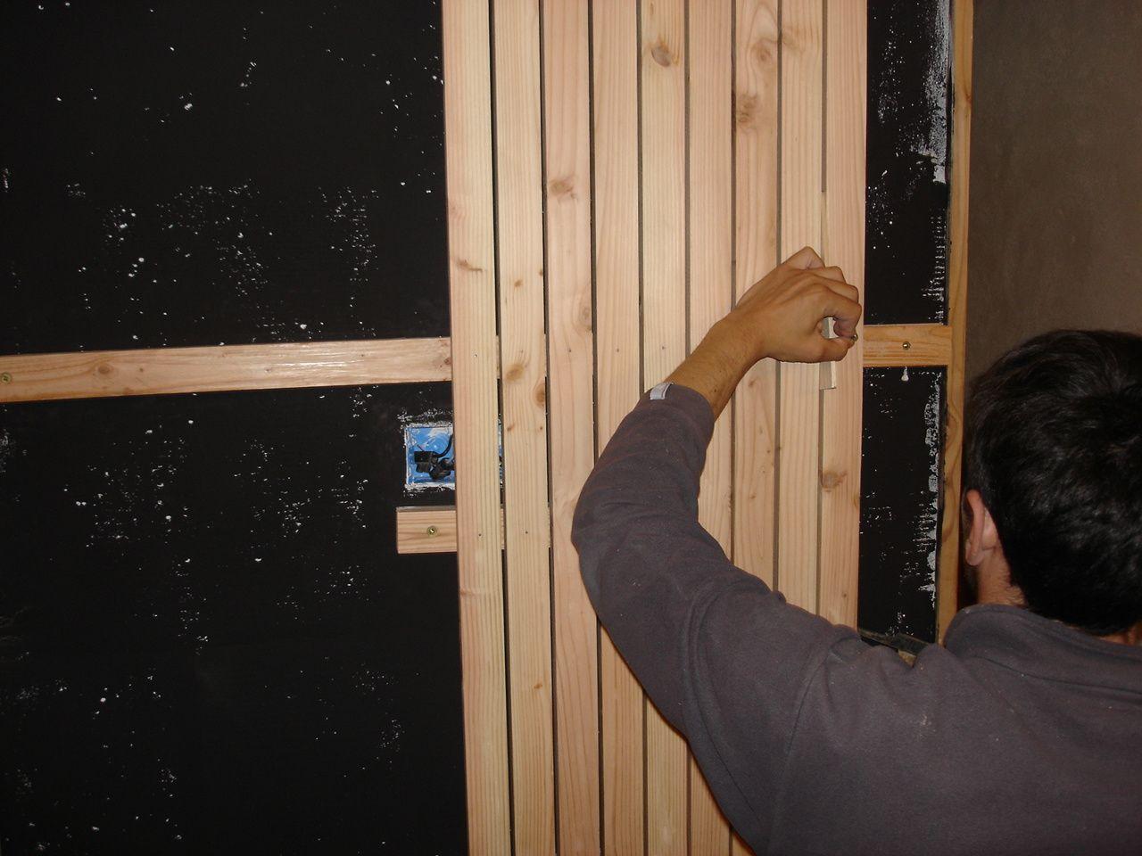 Bardage Bois Vertical Interieur bardage ajouré en intérieur - notre maison passive dans le