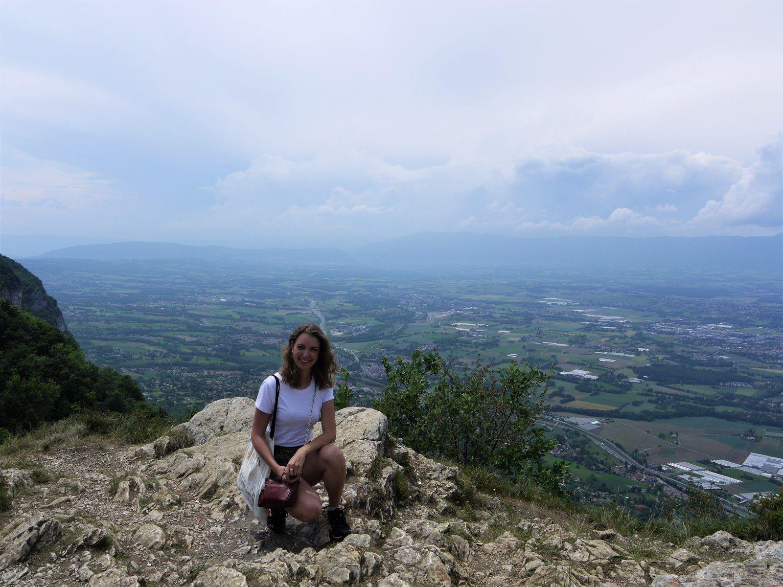 Moi sur le mont Salève en France