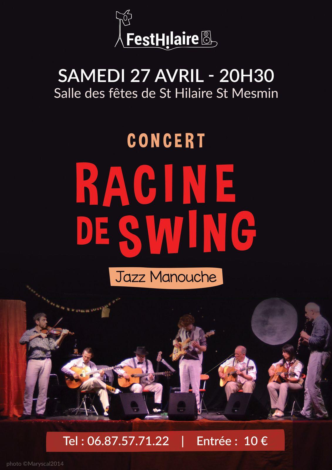 Racine de Swing en concert à St Hilaire St Mesmin