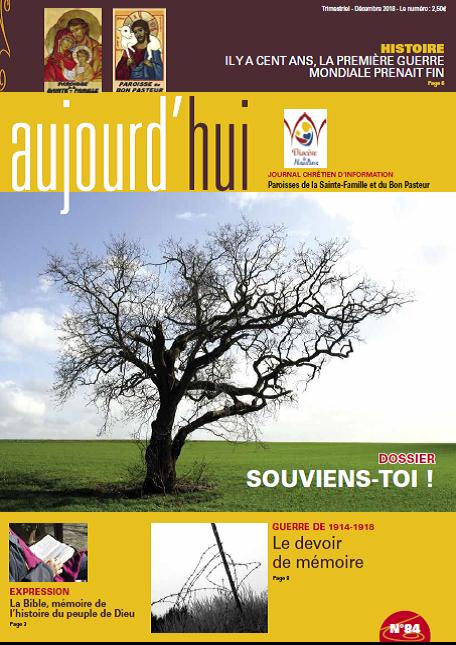 Journal paroissial AUJOURD'HUI Décembre-Janvier- Février 2019