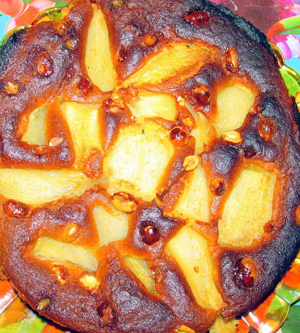 1. Gâteau pré-cuisson 2. Gâteau post cuisson