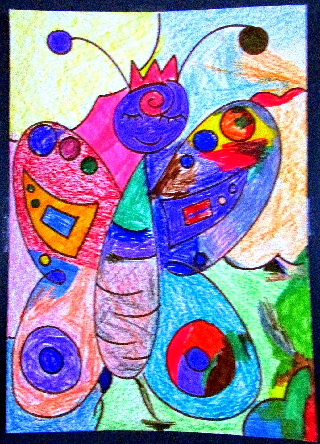 ~ Fresques collectives ~ Butterfly ~ Birdy ~ Mushroom ~