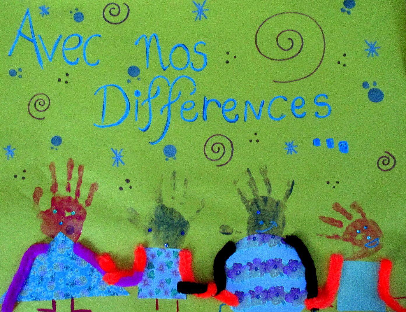 """~ La différence ~ Fresque collective ~ """"Avec nos différences contre le différend !"""" ~"""