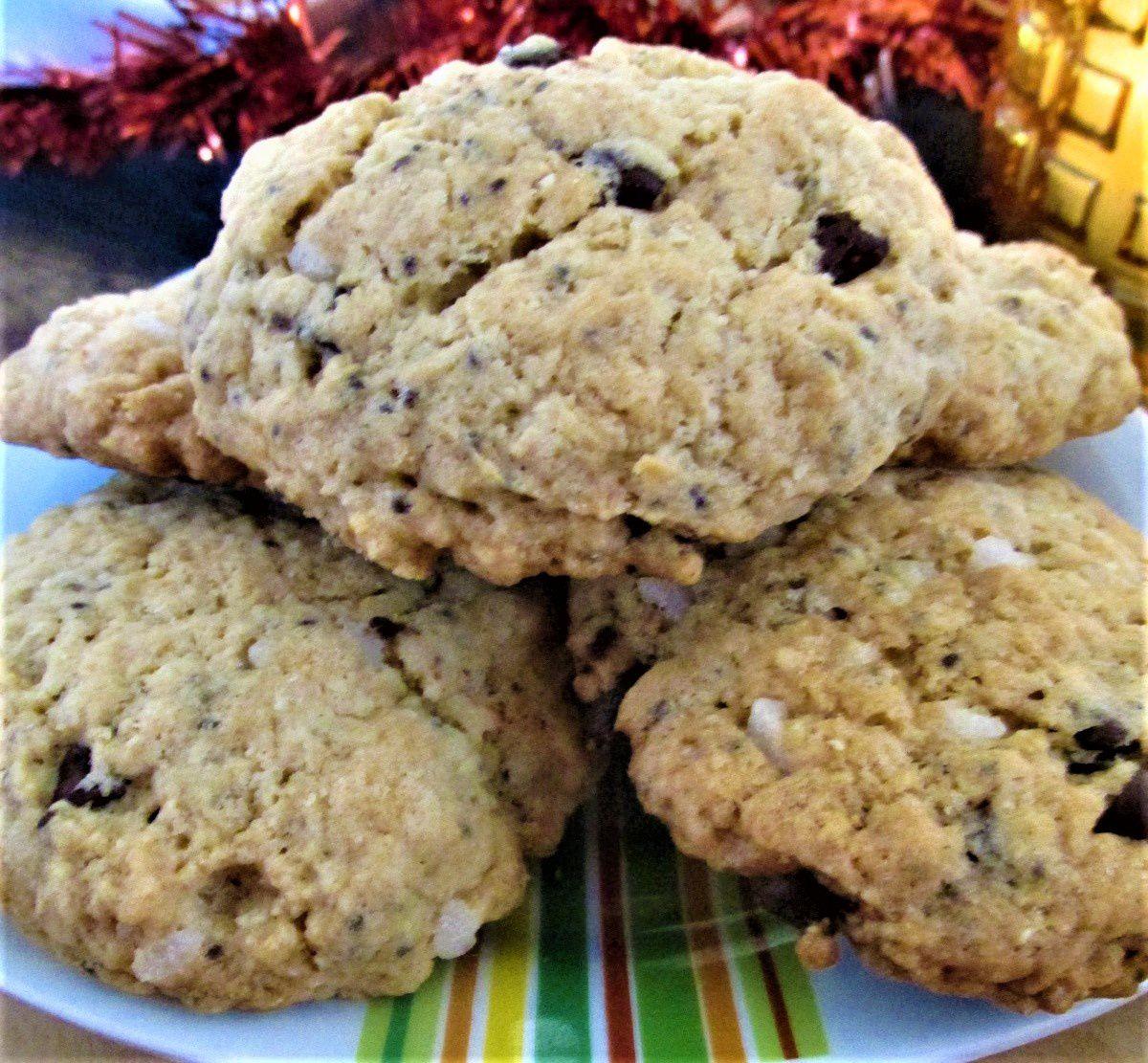 ~ Cookies VEGAN ~ Poudre d'amandes, pépites de chocolat noir et perles de sucre ~