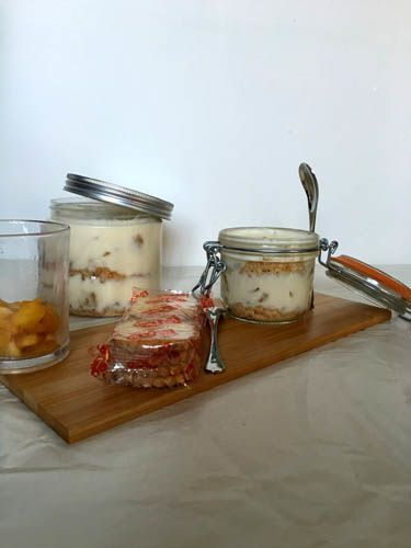 Tiramisu revisité aux pommes caramélisées {sans mascarpone}