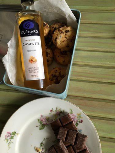 Cookies au praliné et huile de cacahuète