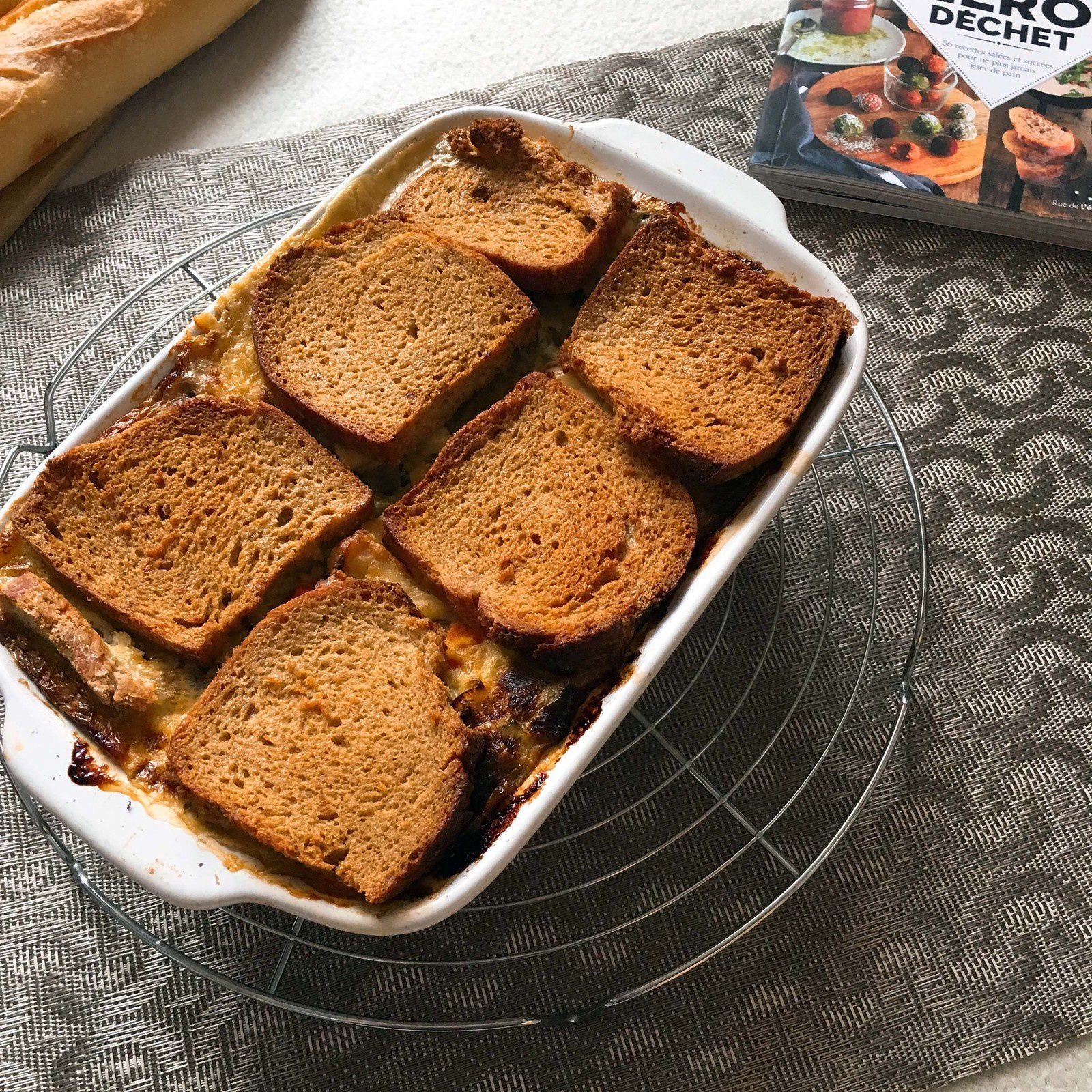 Croque cake aux légumes {ou comment recycler le pain}